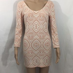 Free People bodycon brocade dress size small